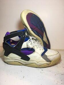 9c1a22f3006f 1991 Nike Air Huarache High OG Sneakers Size 10.5 Heat White Blue Purple