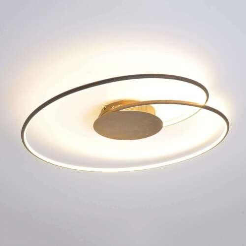 LED Deckenleuchte Joline Rostbraun Deckenlampe Rund Wohnzimmerlampe LED