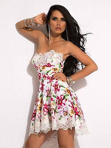 By-Alina-Vestido-Mujer-Palabra-De-Honor-Mini-vestido-Fiesta-Encaje-Coctel