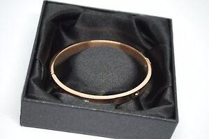 Fifth-NYC-Rose-Gold-Plated-Diamond-Look-Dot-Bracelet-Bangle-In-Box-5cm-Diameter