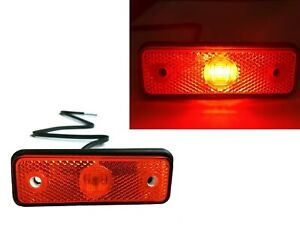 LED Begrenzungsleuchte 12//24V rot weiß orange Umrissleuchte Anhänger Trailer LKW