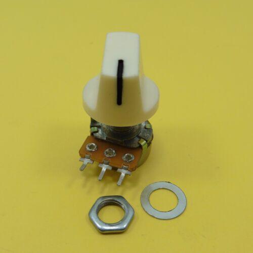 Mono B potenciómetros lineales con Tapa De Plástico Volumen perillas 19 mm Mezclador de Ohm