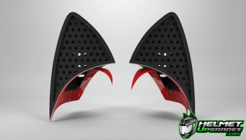 Cat Ear Casque mise à niveau facile Stick sur Casque Moto Accessoire Attachement