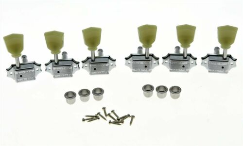 *NEW Wilkinson Deluxe 3x3 Tulip TUNERS Guitar Parts for Gibson Les Paul Chrome