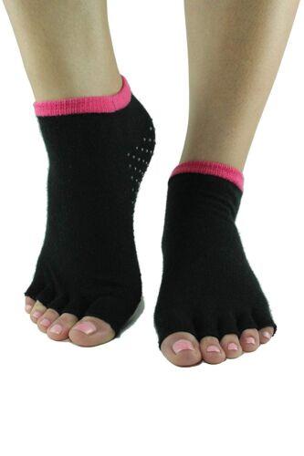 Toezies The Original 1//2 Toe Socks for Yoga//Pilates Pink Lipz