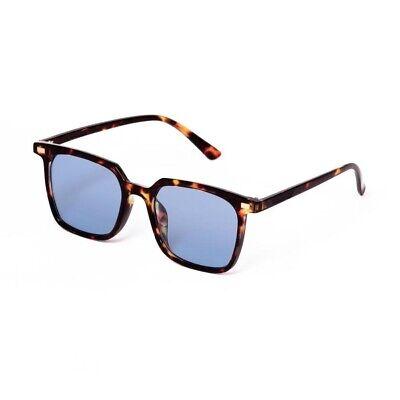 outlet 33081 5ccc8 Occhiali da sole marrone tartarugato lenti blu vintage uomo donna retrò |  eBay