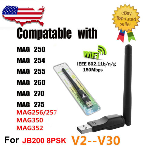 150Mbps USB WiFi Adapter Dongle Antenna FOR MAG250//254//255//270//257//350//352//260