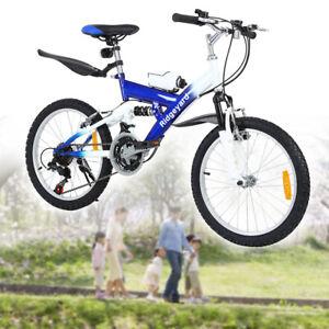 ridgeyard mountainbike fahrrad 20 zoll jugendfahrrad m dchen jungen bicycle blau ebay. Black Bedroom Furniture Sets. Home Design Ideas