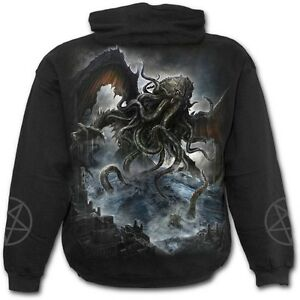 Ones Lovecraft Black Hoodie Direct Top Hooded Cthulhu Old Leviathan Spiral 6C7qHwt