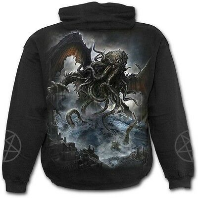 Spiral Direct Cthulhu Old Ones Leviathan Lovecraft Black Hoodie Hooded Top