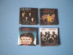 Dolls-House-miniatures-music-album-covers-QUEEN-x-4