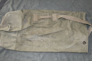 Original-Vietnam-War-U-S-Army-Soldier-039-s-Named-amp-Well-Marked-Duffel-Bag-w-Strap