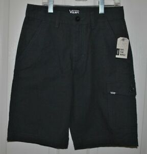 ec46efaa2a Details about Vans Off the Wall Boys Houndstooth Rivered Raven Cargo Shorts  Surf Skate Size 12