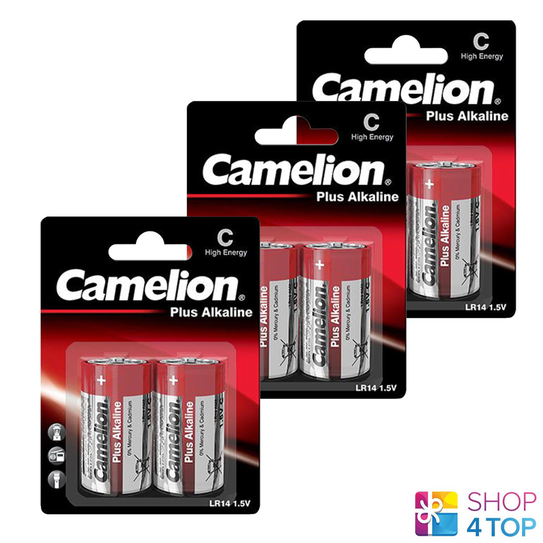 6 camelion C plus alkaline batteries lr14 mn1400 am2 e93 1.5v 2bl Exp 2027 new