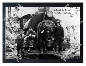 Historic-Northwest-Lumber-Co-Kerriston-Washington-Train-Postcard