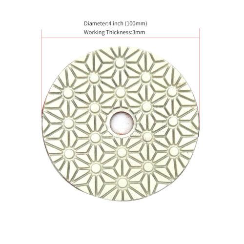 3pcs Wet Dry Diamond Polishing Pads 4 Inch Set Kit Marble Concrete Granite A1A3