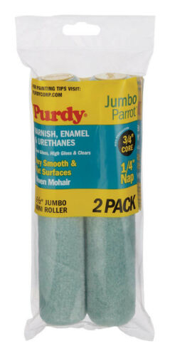 Purdy Parrot Woven Mohair Paint Roller Cover 1/4 in. L x 6-1/2 in. W 2 pk