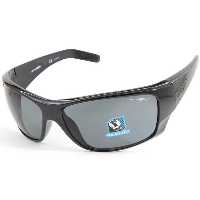 e96855ea4f Arnette Heist 2.0 AN4215 41 81 Polished Black Grey Men s Polarised  Sunglasses