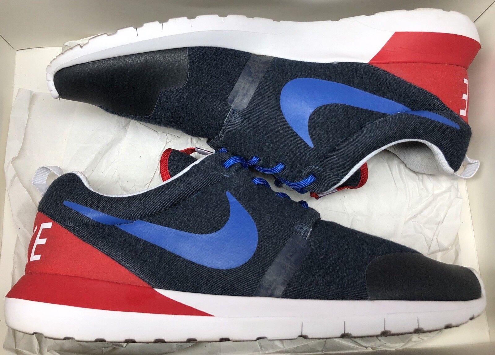 Nike Roshe Run NM W SP World Cup France bluee Red Grey White 652804-446 Sz 9.5
