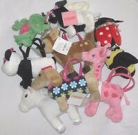 Gymboree Purse Many Lines Stuffed Plush Toy Faux Fur Girls Bags Backpack