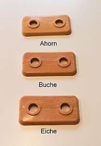 Doppelrosetten 12 mm mit Holzdekor 5 Stück
