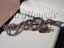 Victorian 1.40ct Rose Cut Diamond Ruby Arrow Wedding Brooch/Pin Thanks Giving