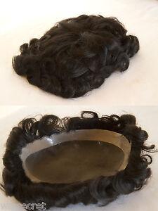 Premium-Quality-Human-Hair-Hand-Tied-Monofilament-Base-Mens-Toupee-8-5X6-5