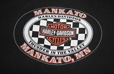 Harley Davidson Feel the Heat T-shirt L Mankato MN Thunder in the Valley Mens HD