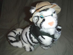 "White Tiger Busch Garden Safari 11"" Plush Soft Toy Stuffed Animal"