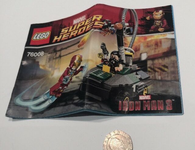 LEGO INSTRUCTIONS ONLY for 76008 Iron Man vs. The Mandarin - Ultimate Showdown