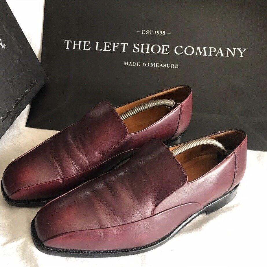 The Left Shoe Company Custom Made Burgundy W Twin Seam Loafer Shoes W Burgundy EU 42 c74ee8