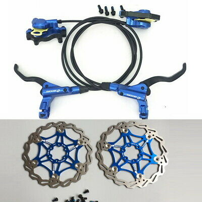 Bicycle Hydraulic Disc Brakes Calipers Front Rear Brake lever Rotor 160//180//203