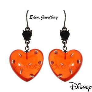 RARE-Disney-Couture-TOM-BINNS-Alice-in-Wonderland-Thorn-Spiky-Heart-Earrings