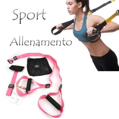 Cinghie per Allenamento Bande  In Sospensione Resistenza Muscoli Fitness cir