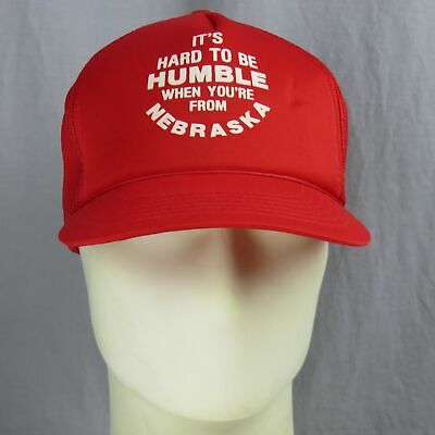 Vintage It's Hard To Be Humble When You're From Nebraska Cappellino Morbido E Leggero