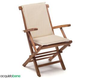 Sedie In Legno Da Giardino.Cuscino Imbottito Da Esterno Per Poltrona Sedia In Legno Con
