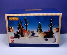 Lemax SNOWY FOREST Lighted Animated Animals Woodland Scene *New*