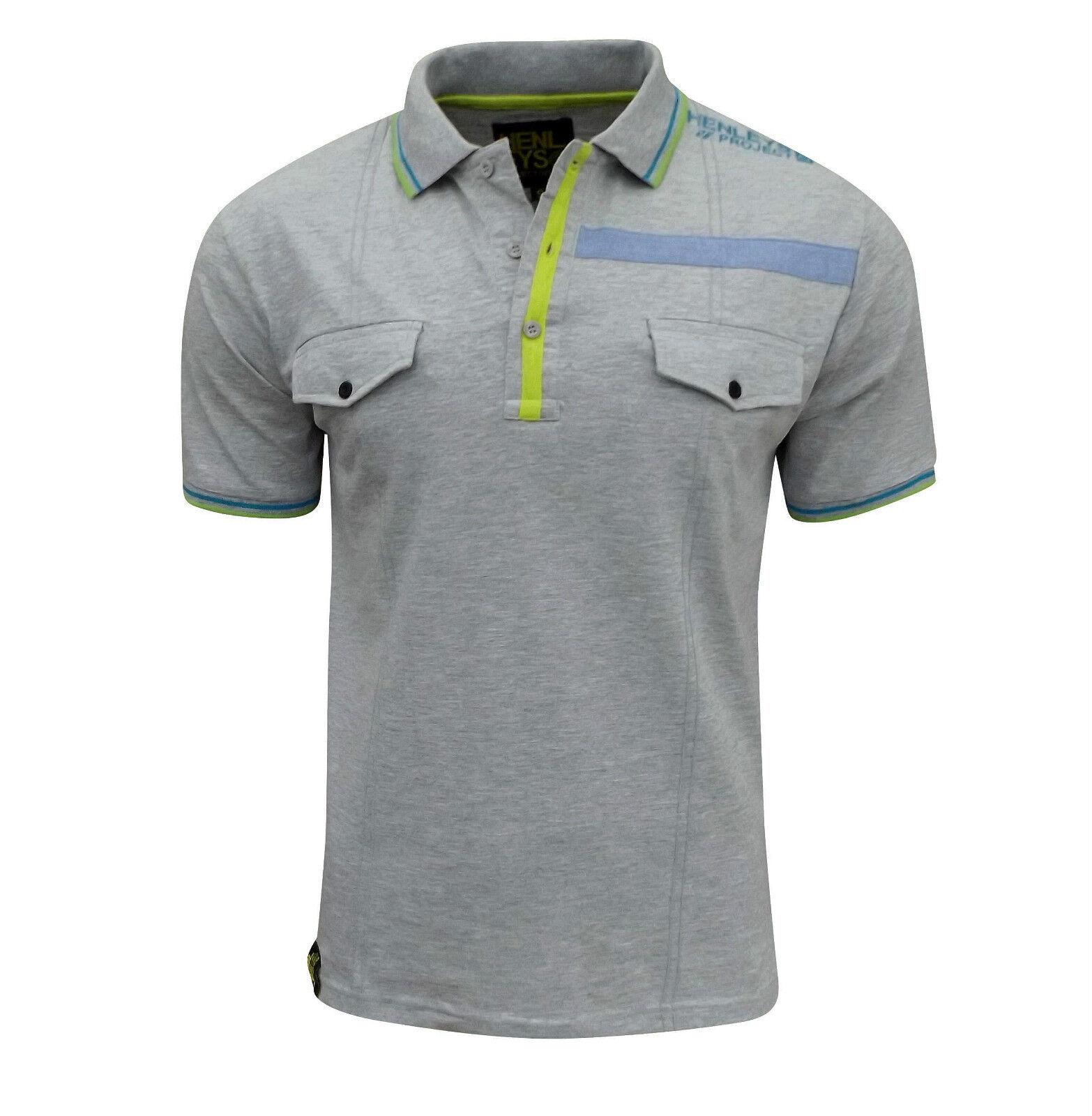 Henleys Plus Polo La Hommes Gris T De Régulier Taille Visite Shirt rnSCrxgPT
