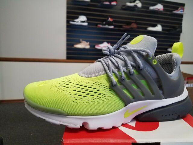 Nike Men's Air Presto Ultra Breathe Shoes: Lime Green Gray