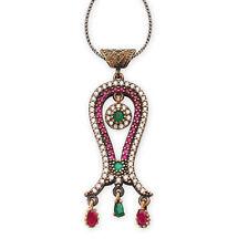 Women's Ottoman Pendant Zircon Necklace Tulip
