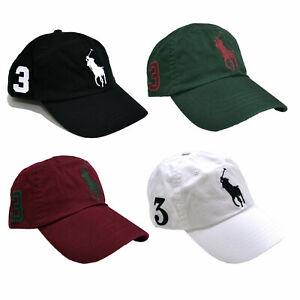 Polo-Ralph-Lauren-Big-Pony-Baseball-Chapeau-Taille-Unique-Classique-Casquette-Reglable