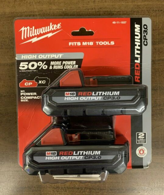 NEW Milwaukee M18 Red Lithium High Output 48-11-1837 CP3.0 18v Battery Pack Comb