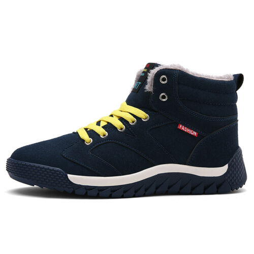 Men/'s Snow Boots Outdoor Warm Plush Casual High Top Fur Shoes Plus Size Winter