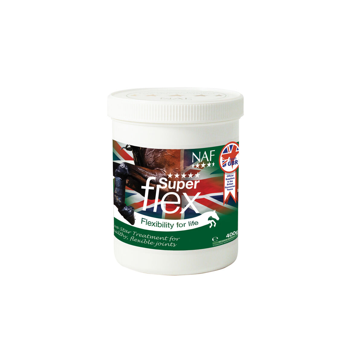 NAF Five Star Superflex joint supplement for horses & ponies 400gm 0r 800gm