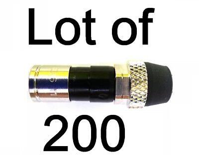 Lot 200 PPC EX6XLWSPLUS Coax Compression Connector RG6 Cable Fitting ATT EX6XLWS