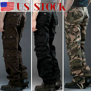 New Military Mens Cargo Pants Combat Camouflage Camo Tactical Army Work Trousers