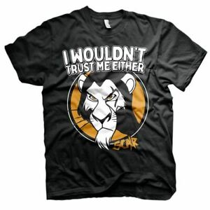 Mens Lion King Scar I Wouldn't Trust Me Either T-Shirt - Unisex Disney Adult Tee