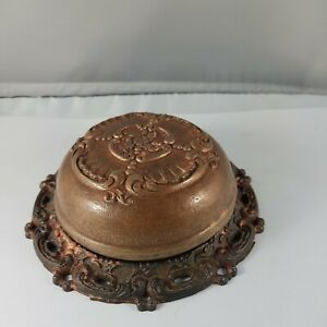 Antique hotel desk bell, cast iron ,Parts restore repair, made in United states