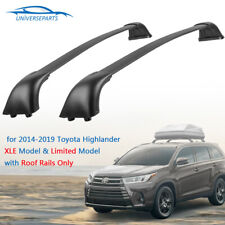 For 2018 Toyota Highlander XLE Limited Roof Rail Rack Cross Bars OEM Replace