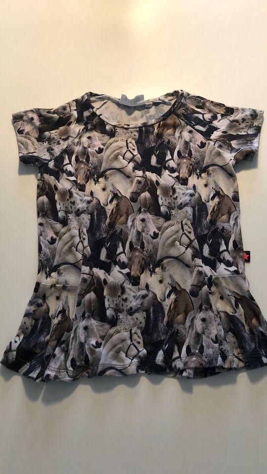 Bluse, Fin bluse med heste og korte ærmer, Molo
